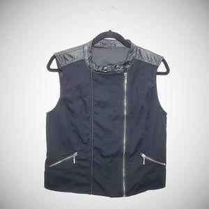 | Maurices | Black Zip Up Vest w/ Zipper Detail
